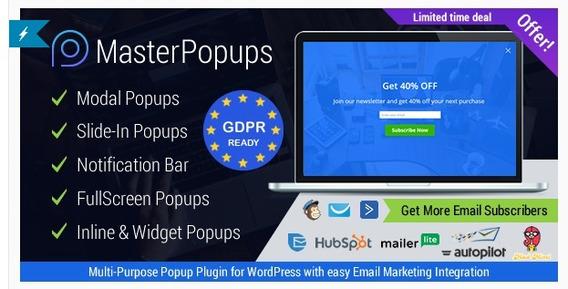 Master Popups - Wordpress Popup Plugin For Email Subscriptio