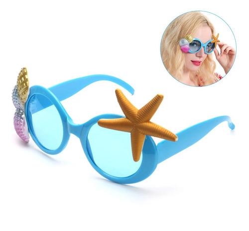 Imagen 1 de 8 de Gafas De Sol Para Fiestas Tropicales, Diseño De Concha De Ma