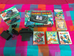 Game Gear + 5 Cartuchos + Big Window Originais Completos