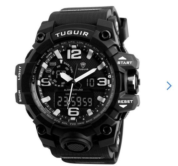 Relógio Masculino Tuguir Tg1155 Anadigi Digital Prova D`água