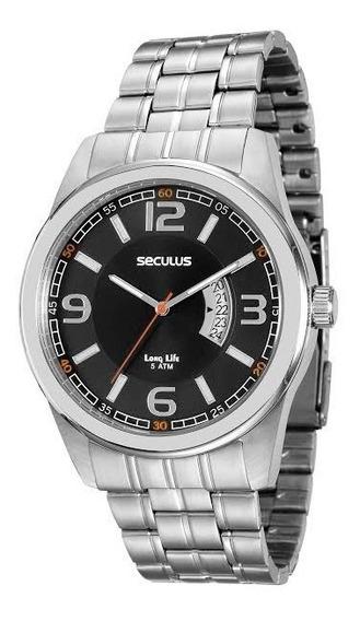 Relógio Seculus Masculino Prata 20400gosvna2