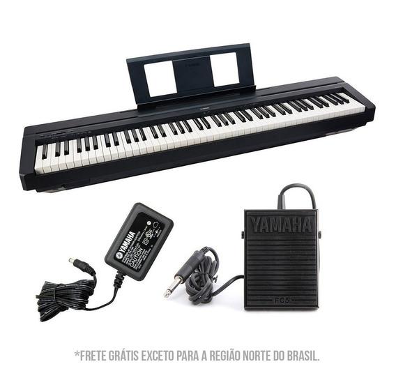 Piano Digital Yamaha P45 B C/ Fonte Bivolt + Pedal Sustain