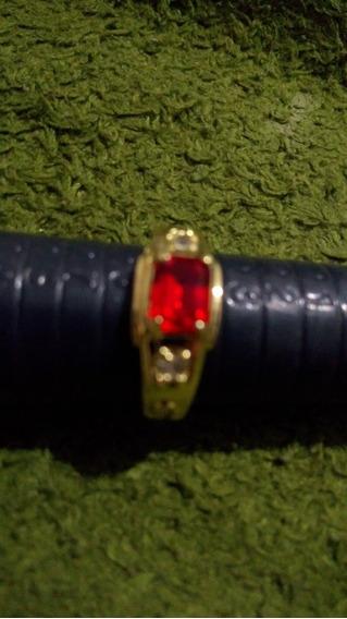 Anel De Formatura Pedra Vermelha Banhada Ouro18k Fretegratis