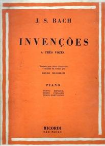 Livro Invenções A Três Vozes - Piano