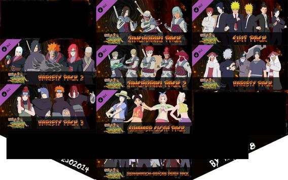 Dlc Pacote Variado 1,2,3+2 Naruto Storm Revolution Ps3
