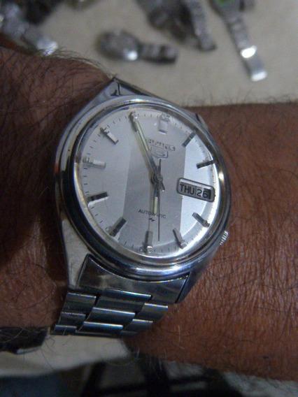 1 Relógio Seiko Aut. Masc. Mod. 7009-8150-a Cx 37 X 43 Mm