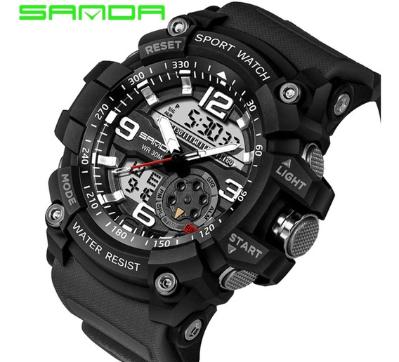 Relógio Masculino Militar Sanda 759 A Prova D