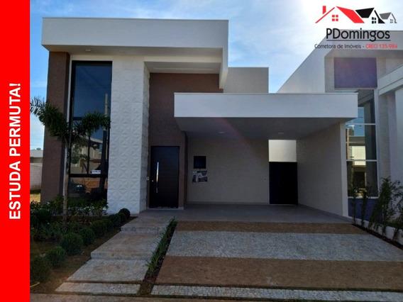 Casa Térrea Excepcional À Venda No Condomínio Residencial Reserva Real Resort, Atrás Do Okinawa, Em Paulínia - Sp!!! - Ca00731 - 34109444