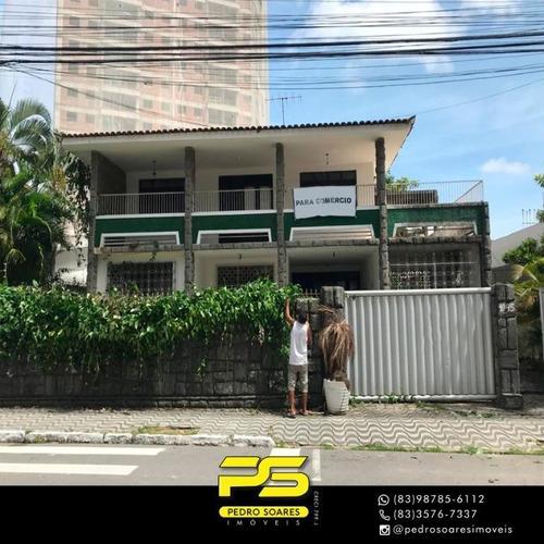 Casa Com 10 Dormitórios Para Alugar, 450 M² Por R$ 5.000,00/mês - Bairro Dos Estados - João Pessoa/pb - Ca0579