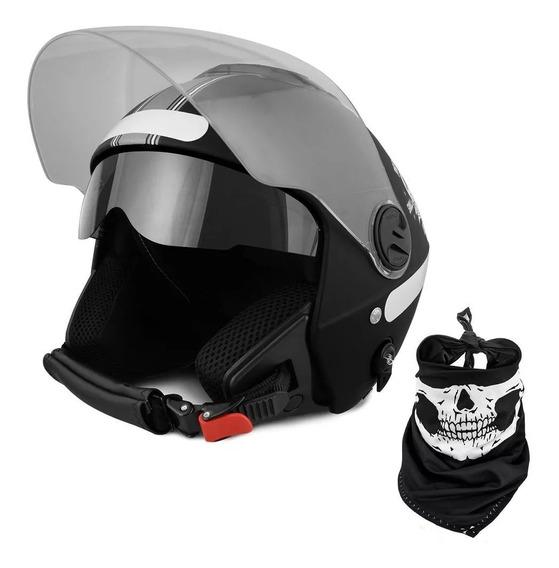 Capacete Custom New Atomic Skull Riders Protork 60
