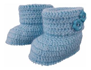 Botinha De Crochê Em Lã Modelo Moleque Calçado Infantil