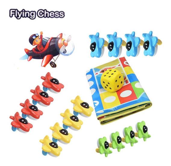 3d Mini Avião Voando Xadrez E Esteiras Família Jogo Inteligê