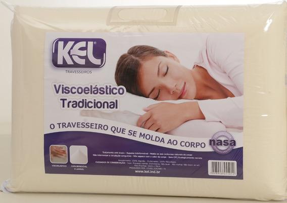 Travesseiro Nasa Viscoelástico Kel 1un 14cm Alt.