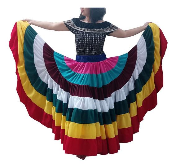 Saia Dança Cigana Tribal Ats 8 Cores 20m De Roda