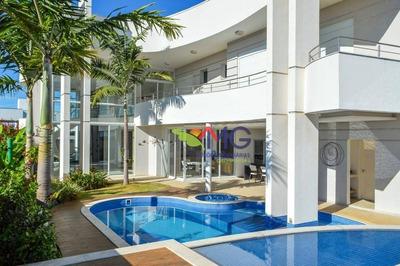 Casa Com 5 Dormitórios À Venda, 560 M² Por R$ 3.980.000 - Loteamento Mont Blanc Residence - Campinas/sp - Ca0257