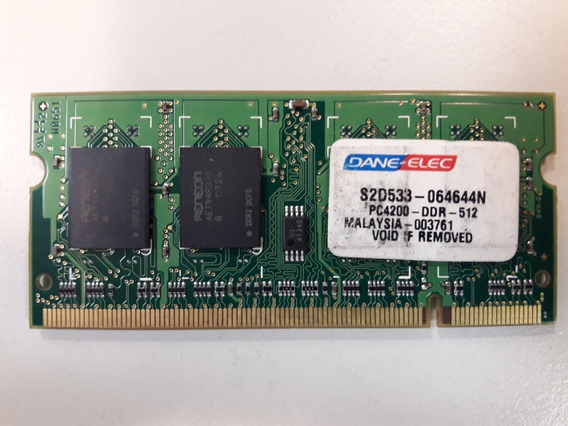 Ram Notebook Ddr2 512 Mb Pc2-4200s-533mhz