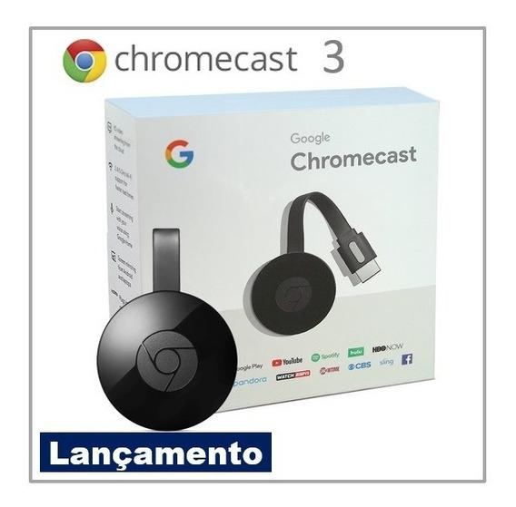 Google Chromecast 3 Hdmi 1080p 100% Original Lançamento