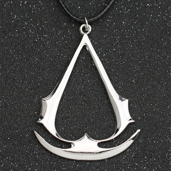 Collar Dije Assassins Creed Gamer Logo Plateado