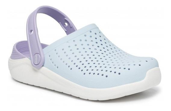 Crocs Literide Clog Kids - Mineral Blue/white