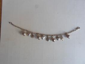 Pulseira Prata Bali 925 Coracao Estrelas Frete Gratis 32