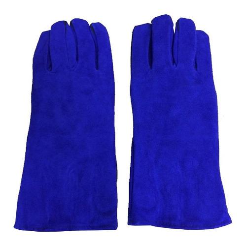 Luva De Raspa 15cm Azul Premium Wwsoldas