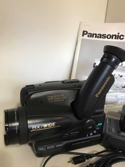 Filmadora Panasonic Vhs Compact Movie Nv S250 Pn C/car/bater