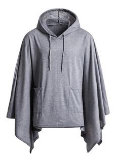 Poncho Masculino Street Style - Blusão Poncho Com Capuz B33