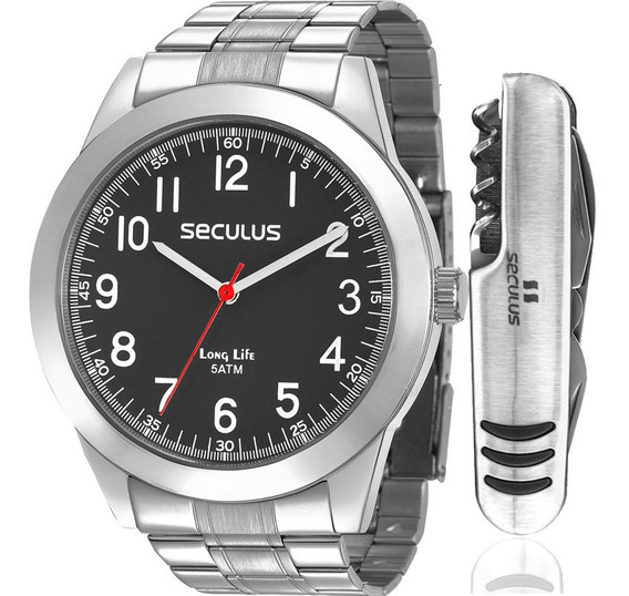 Relógio Masculino Seculus Kit Canivete 28937g0svna3kz