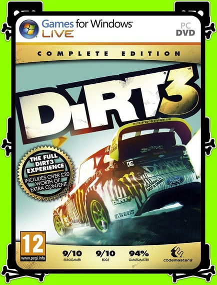 Dirt 3 Complete Edition Pc - 100% Original (steam Key)
