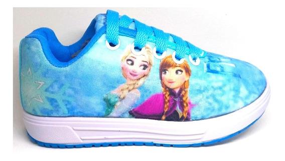 Tênis Frozen Infantil Feminino Sofia Minnie Sem Led Promoção