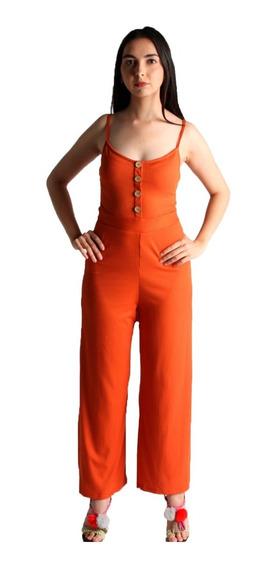 Jumpsuit De Tirantes Color Naranja