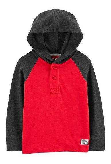 Camiseta Oshkosh Com Capuz - Red