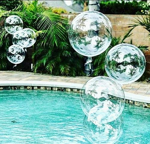 Globo Burbuja Transparente 20 Cm Paquete X 50