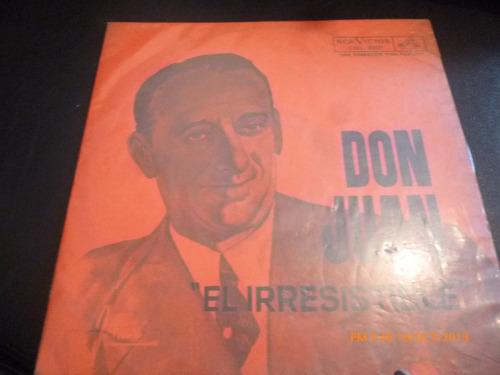 Vinilo Lp De Don Juan  -el Irresistible (u127