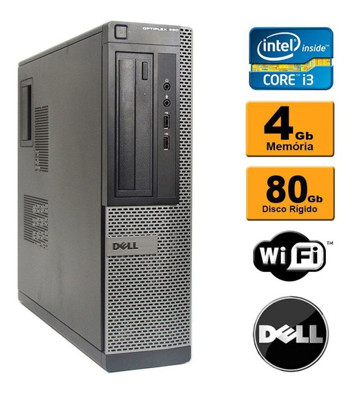 Pc Dell Desktop Optiplex 990 Core I3 4gb Ddr3 Hd 80gb Hdmi