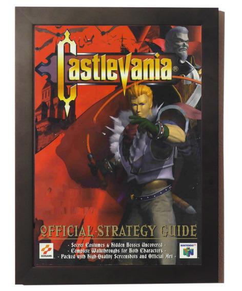 Quadro Poster C. Moldura Acrílico Castlevania 64 Nintendo 64
