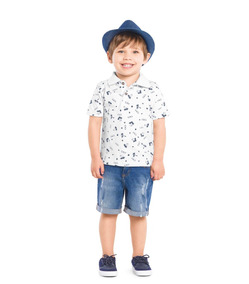 Camisa Polo Masculino Infantil Trick Nick