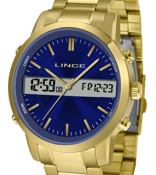 Relógio Lince Masculino Dual Time Mag4489s D1kx