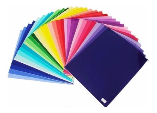 100x Filtro Gelatina Colorido 25x30cm - 0,075mm