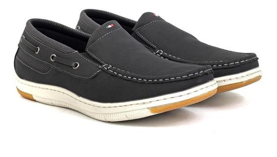 Nautico Hombre Zapatos Tipo Mocasin Massimo Chiesa Sin Cordon Importado