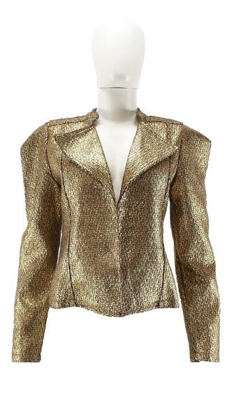Blazer Dourado Lança Perfume Luxo Brilho Promoção