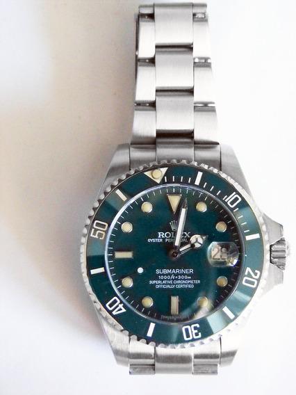 Relógio Masculino Submariner Verde - Aço Automatico