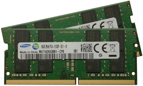Imagem 1 de 4 de Memória Ram Samsung Ddr4 2133 16gb 2rx8 M471a2k43bb1-cpb
