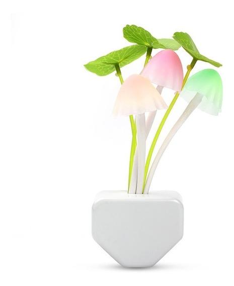 Luminária Abajur Led Cogumelos Sensor Noturno Automático