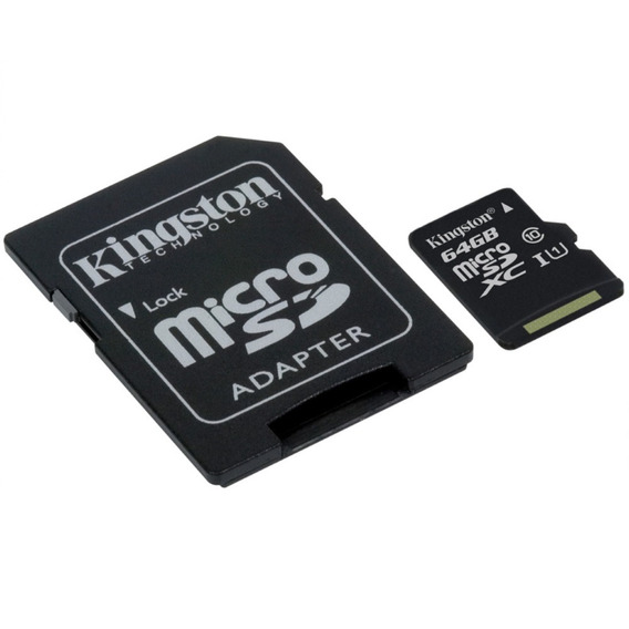 Cartão De Memória - Microsdxc - 64gb - Kingston - Classe 10 - Sdcs/64gb