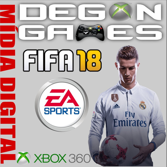 Fifa 2018 Xbox 360 Jogue On Line - Licença Liberada Não É Cd