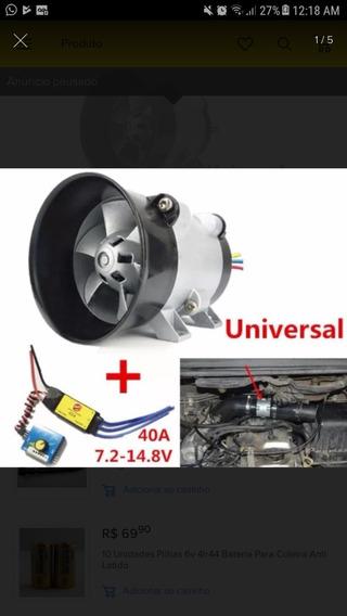 Kit Turbo Turbina Eletrica Supercharger Universal Injeção.
