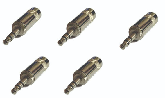 Ficha Conector Plug 3,5 Estereo X 5 Unidades