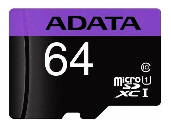 Cartão de memória Adata AUSDX64GUICL10-RA1 Premier com adaptador SD 64GB