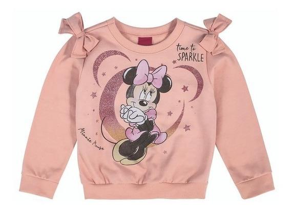 Conjunto Blusão E Calca Disney Rosa